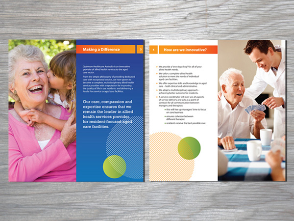 Sean Walsh Graphic Design  Healthcare Brochure Design