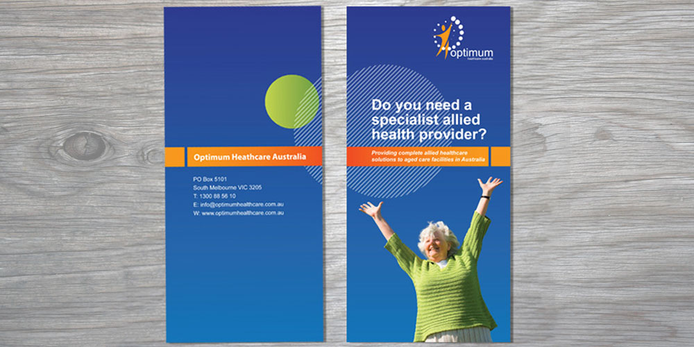 Sean Walsh Graphic Design – Optimum Healthcare Brochure Design