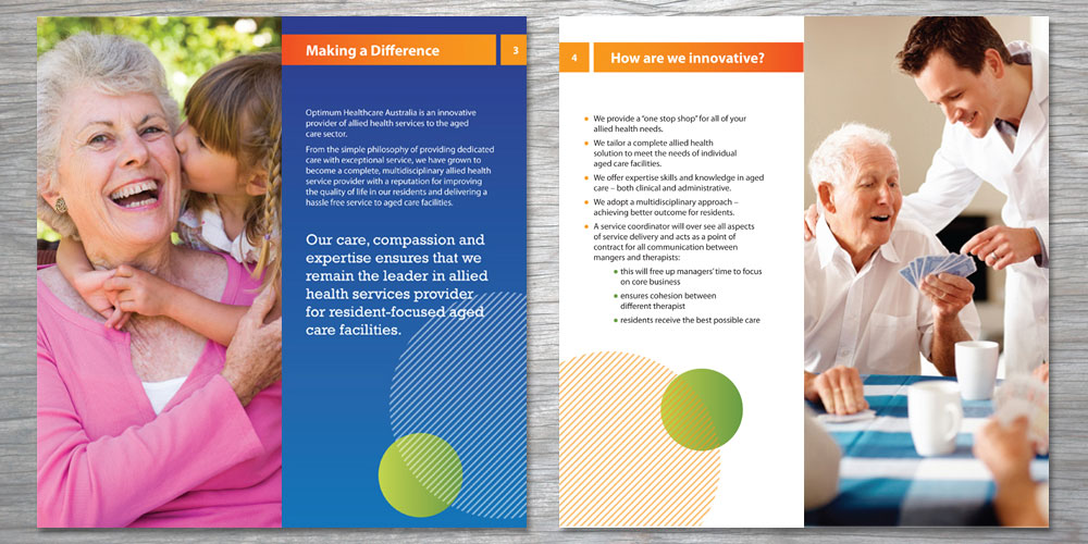 Sean Walsh Graphic Design  Optimum Healthcare Brochure Design
